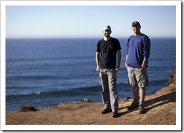 Sam and Jarrid at Tomales Point