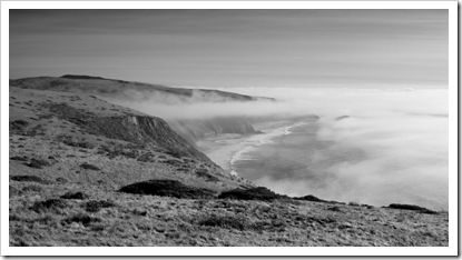 The fog rolls in on Point Reyes