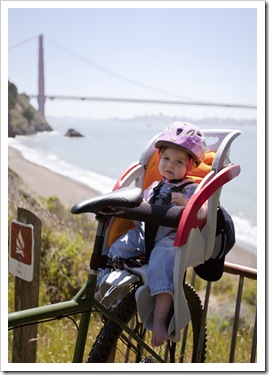 Lilia on the Sulry with the Golden Gate Bridge in the background
