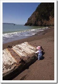 Lilia on the beach at Kirby Cove