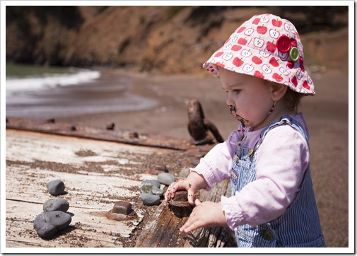 Captivated by some salty-tasting rocks